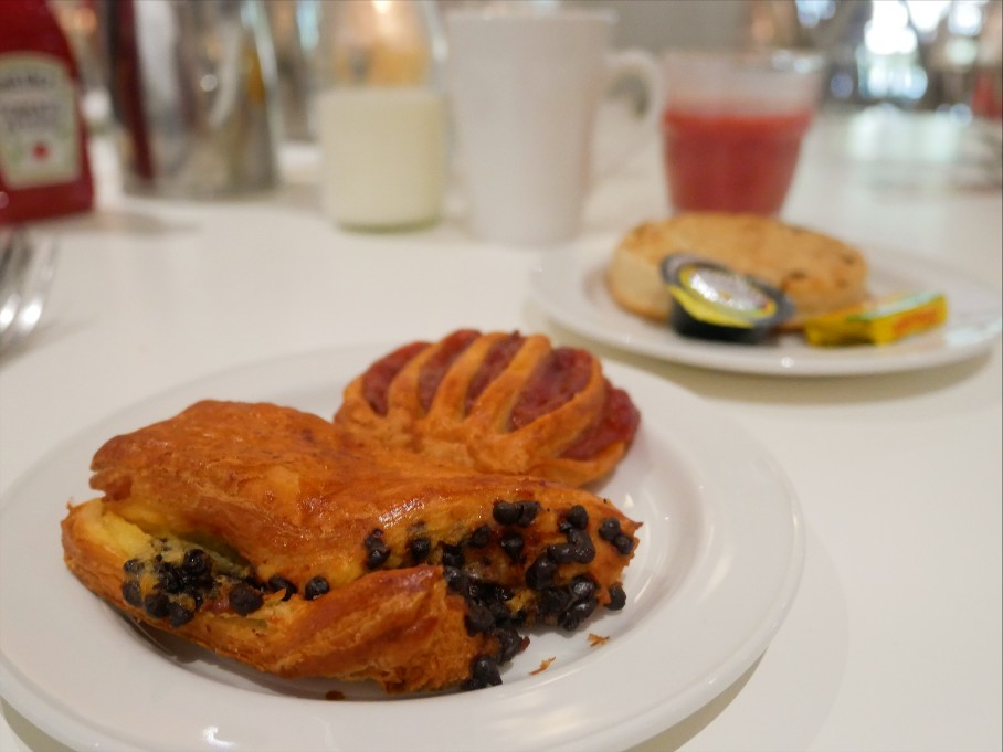 Breakfast pastries at Grey Restaurant, Hilton Hotel Cardiff