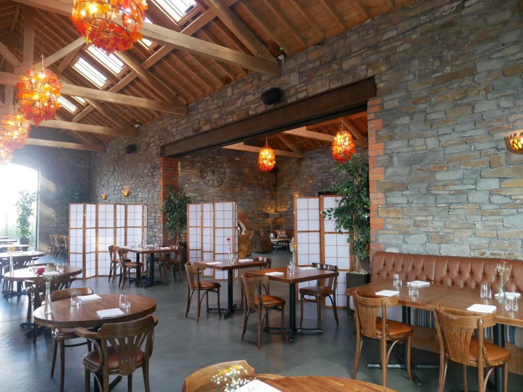 The restaurant/dining area at Sosban restaurant in Llanelli, South-West Wales