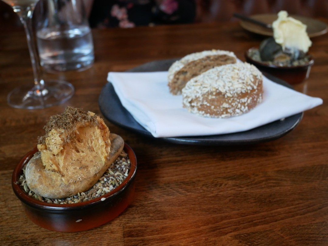 Marmite butter and bread roll at Sosban restaurant