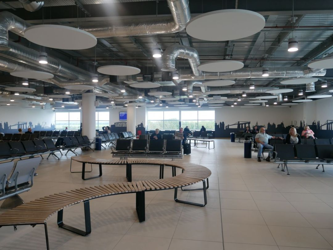 The new Departures Lounge at Cardiff Airport