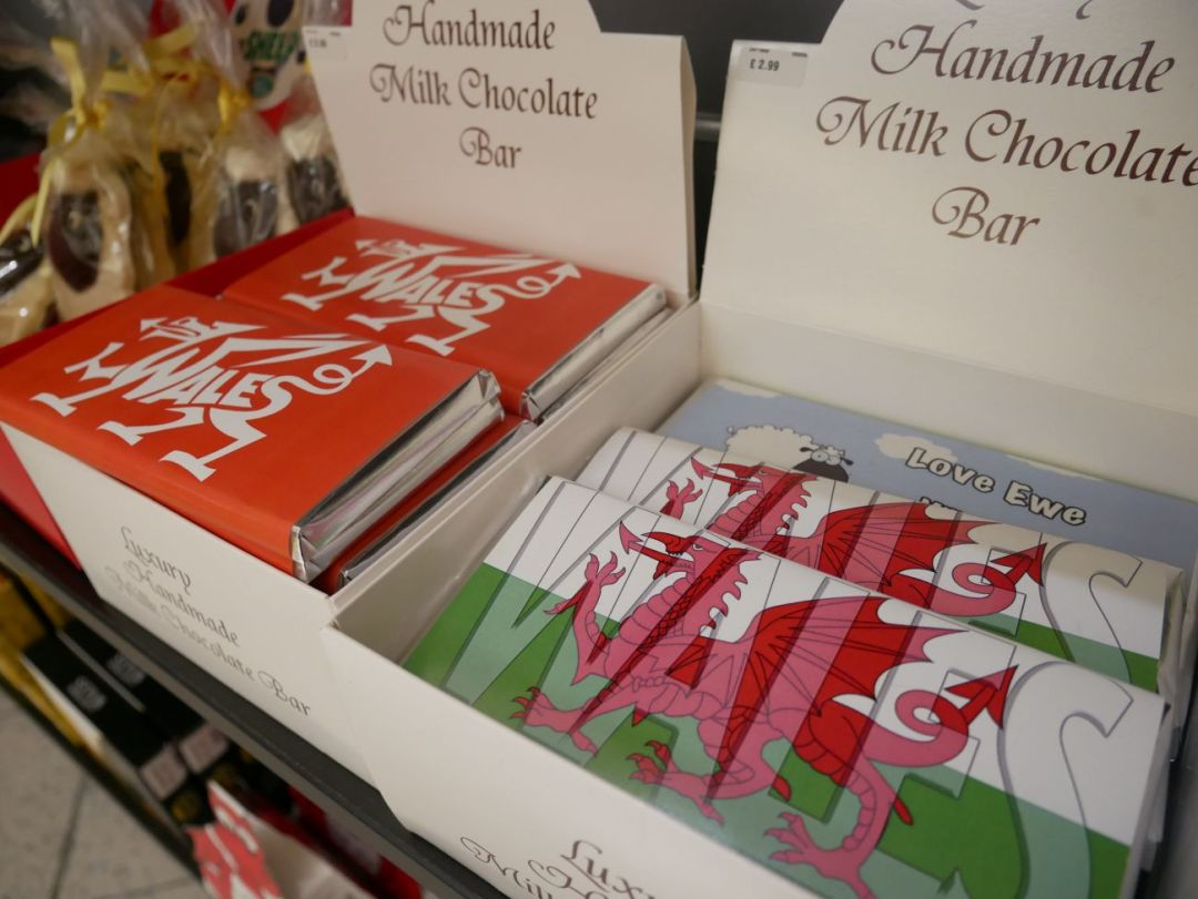 Welsh chocolate on sale at Cardiff Airport