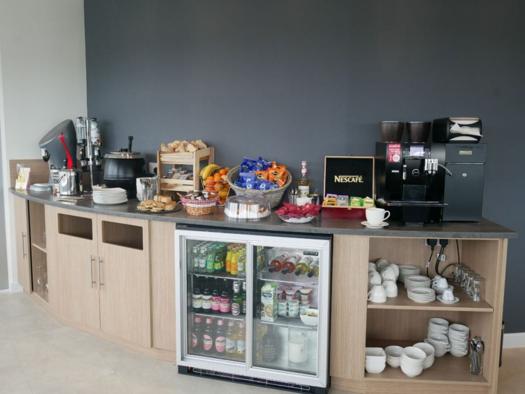 The food and drink on offer in the 51 Degrees Executive Lounge Cardiff Airport