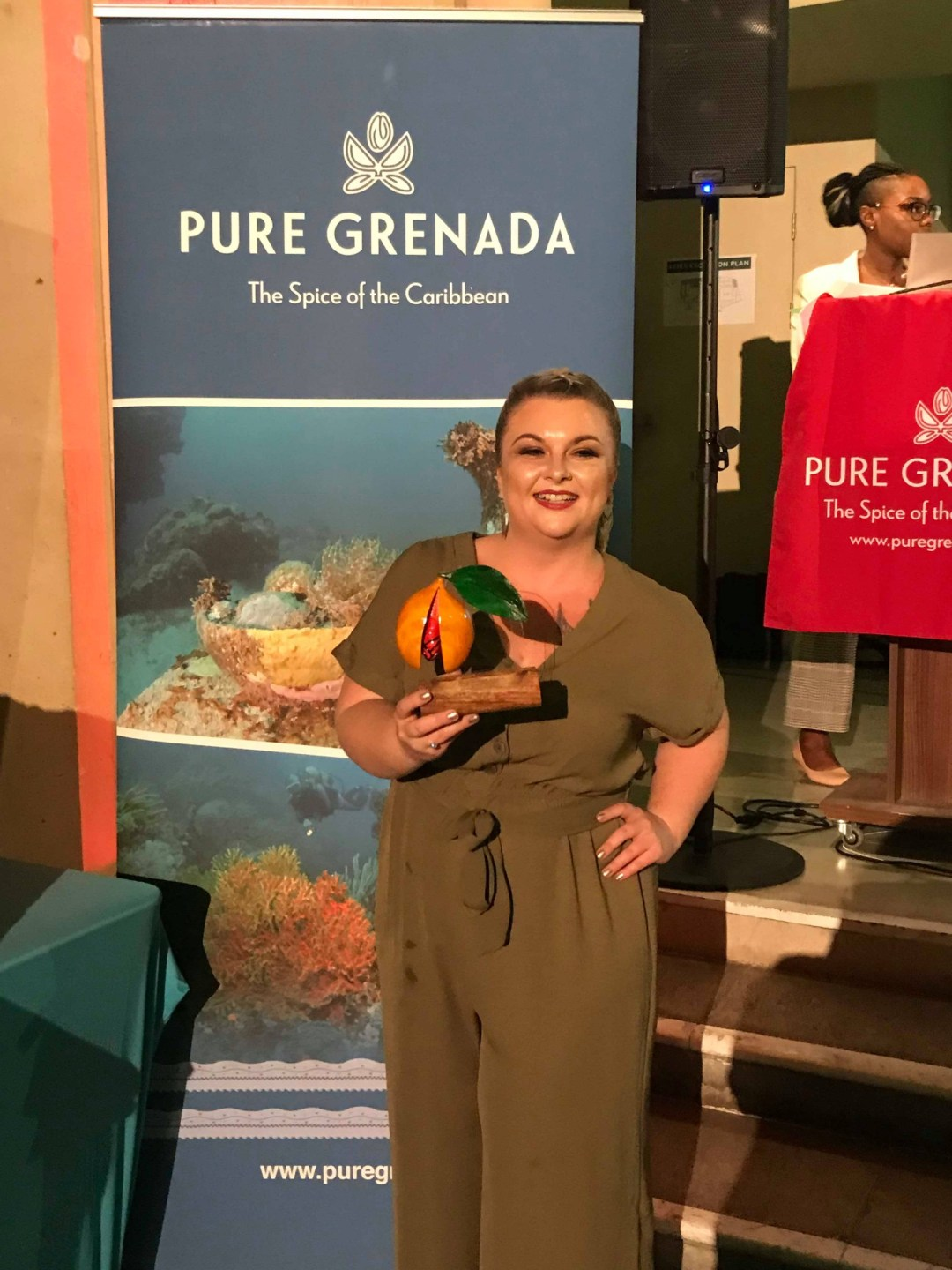 The Rare Welsh Bit is awarded Blogger of the Year by Grenada Tourism Authority for 2018