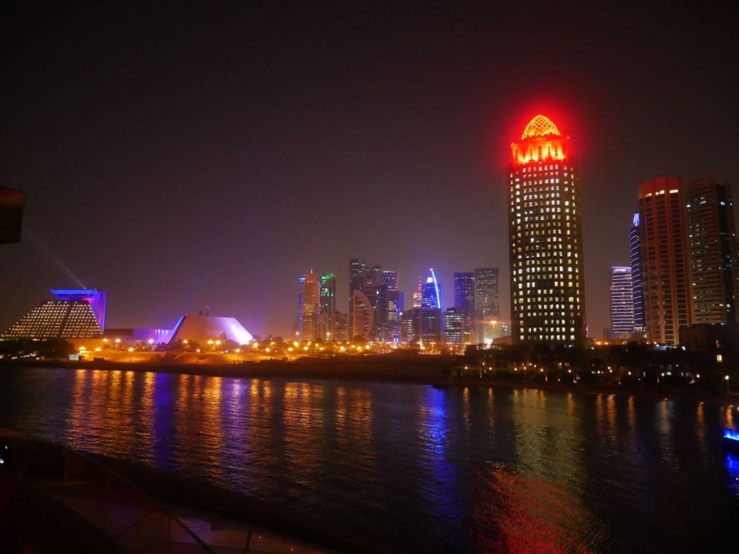 Admiring the Doha skyline by night is one of the best things to do in Doha