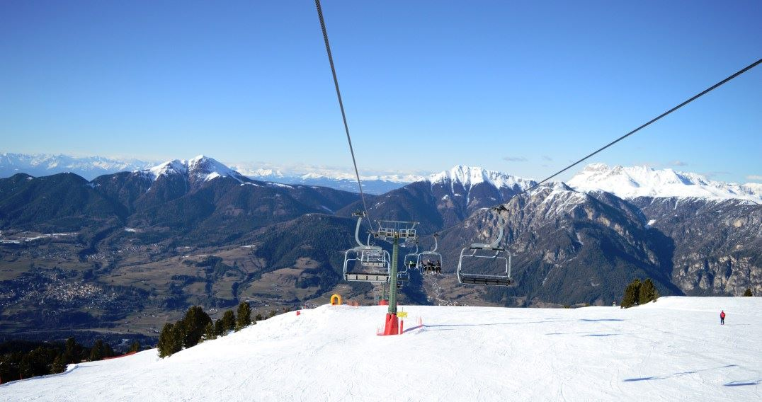 Alpe Cermis in eastern Trentino, northern Italy is a favourite destination for winter ski trips