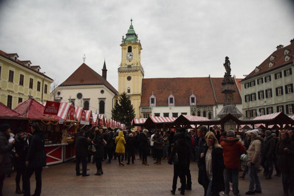 Bratislava Xmas Market in Slovakia