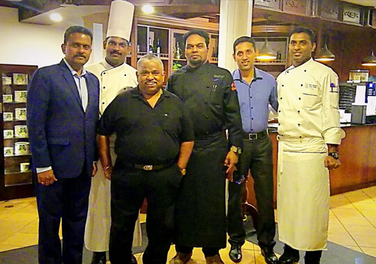 Chef Damodharan at The Raviz Kadavu