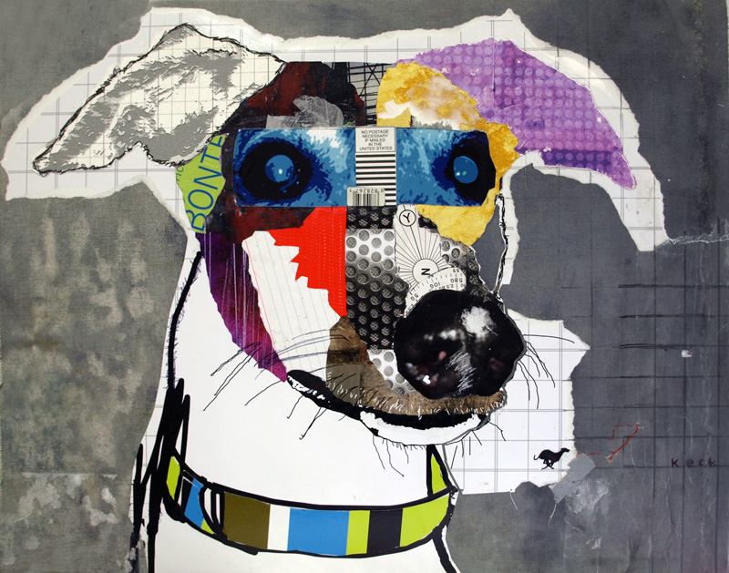 dog art greyhound dog art collage