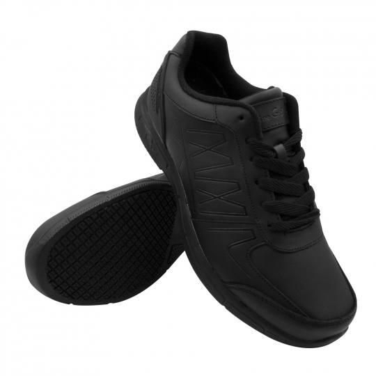 Womens Black Slip Resistant Work Shoes