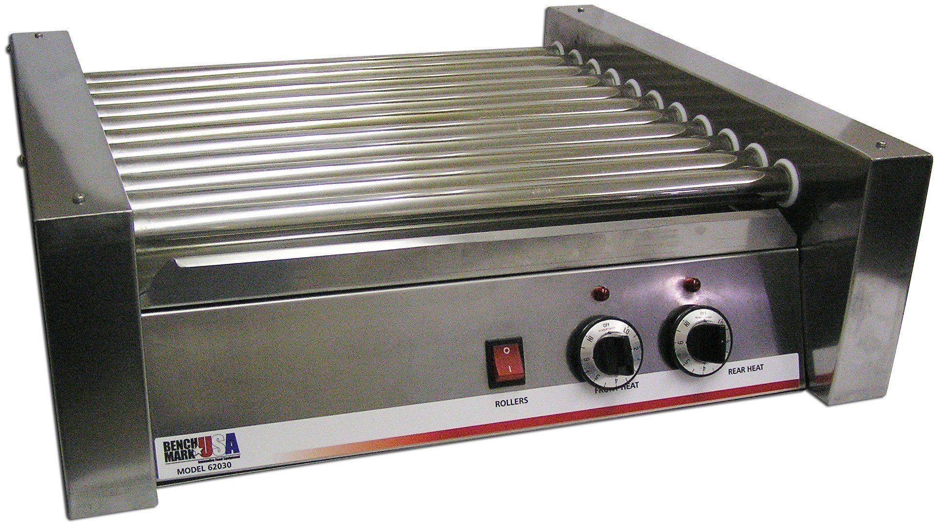 commercial kitchen hot box space saver design benchmark usa 62030 30 dog roller grill 1100w