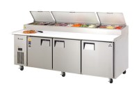 Everest Refrigeration EPPR3 three-section Pizza Prep Table ...