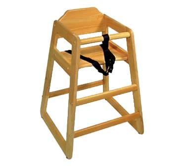 high chair restaurant covers orlando fl qualite hcw 1kd natural wood knocked down equipment and supplies online depot
