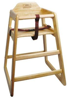 high chair restaurant chairs for bedrooms target winco chh 101 natural wood stacking knocked down equipment and supplies online depot