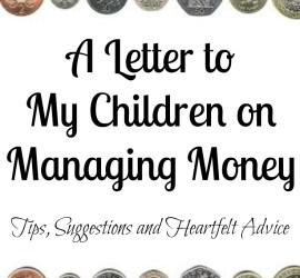 A Letter to My Children on Managing Money