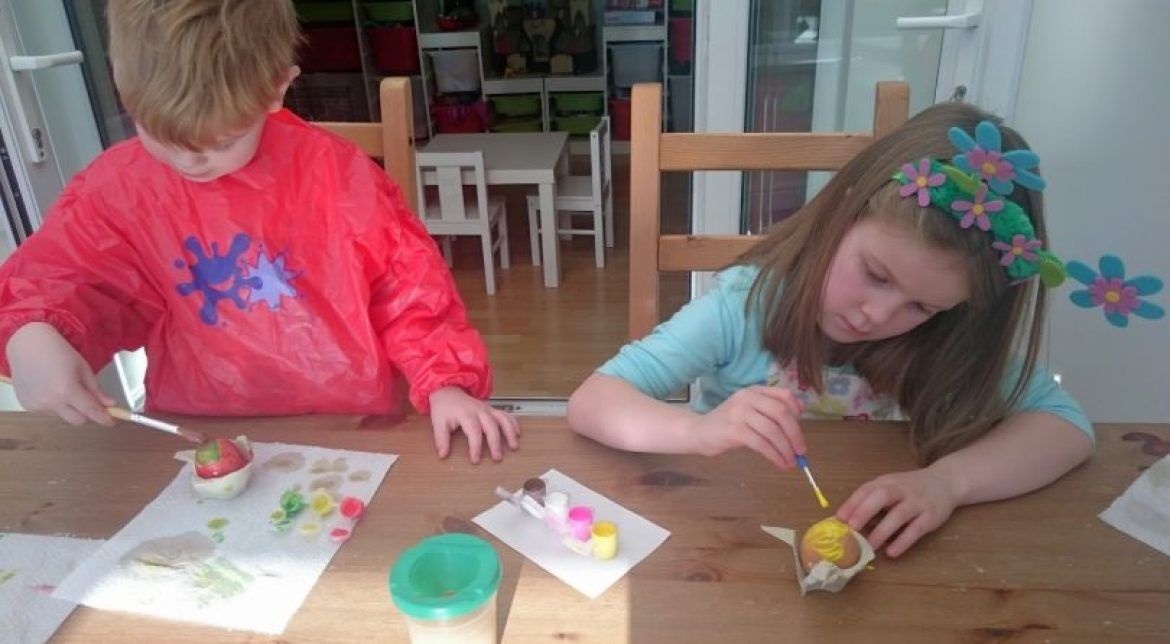 easter egg painting session