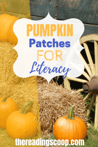 Pumpkin Patches for Literacy. Build up your child's background knowledge of the fall using pumpkin patches. Then get all kinds of fall books! #pumpkinpatches #fall #thereadingscoop Follow my blog at thereadingscoop.com