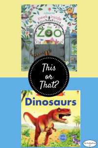 This or That? Animals Books for a 3-year-old.