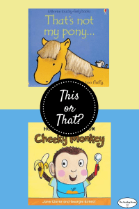 This or That? 1 year old babies will adore these animal books.