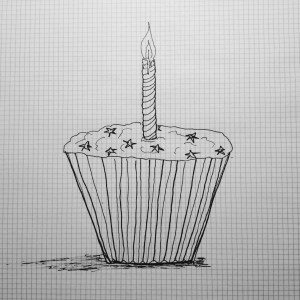 cupcake, zero carbs, one candle, one year old, 100 posts