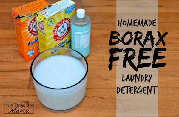 Homemade Laundry Detergent Borax Free!