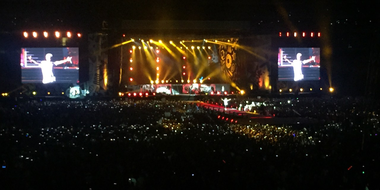 The boys at One Direction in Jozi