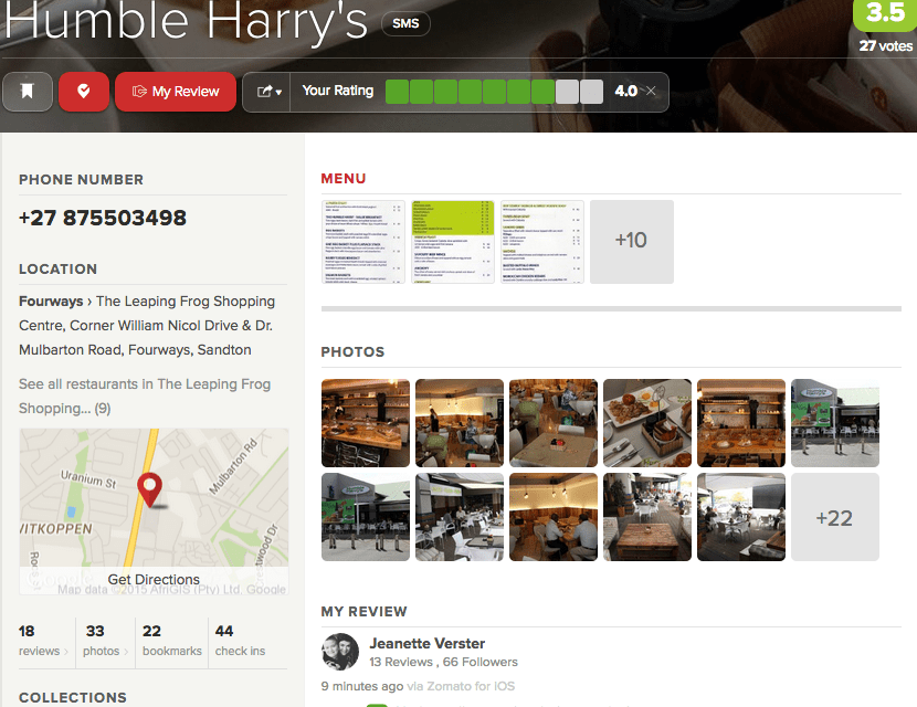 A Humble Harry's voucher giveaway with Zomato