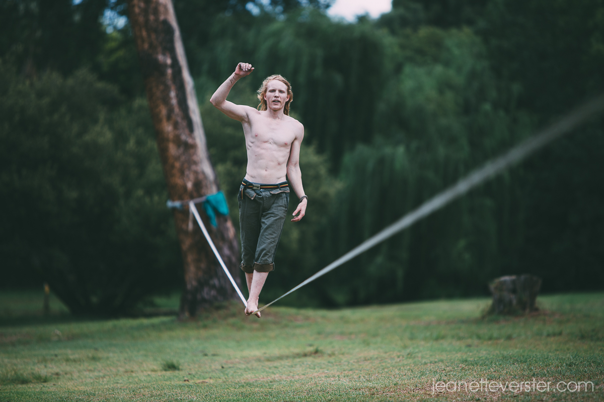 Slacklining in the park