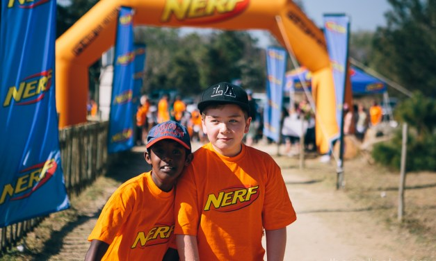 Having fun at Nerf Blaster Masters