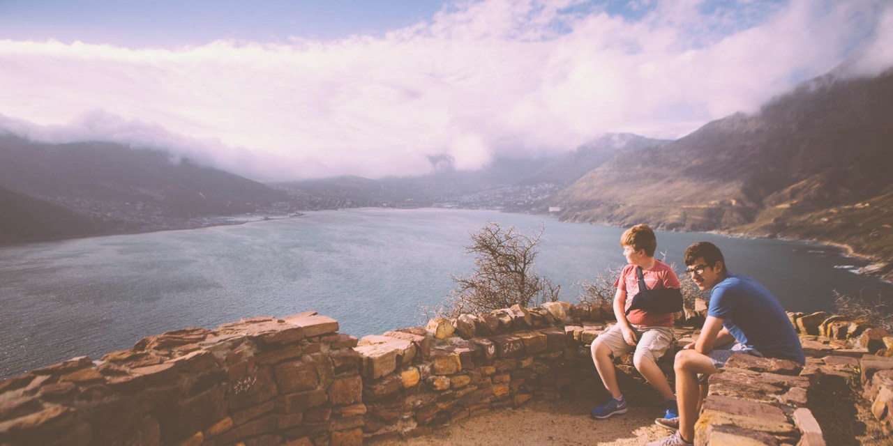 Driving along Chapmans Peak and taking in the view