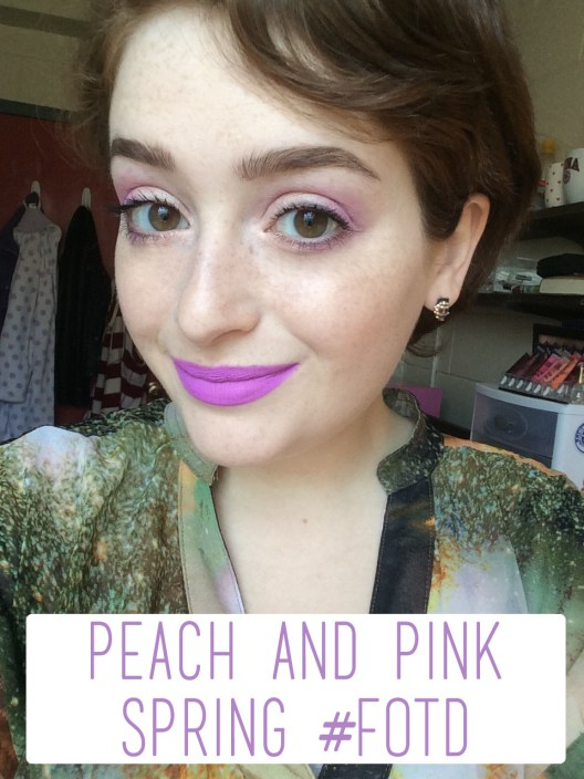 Peach and Pink Spring #FOTD Overview | The Rebel Planner