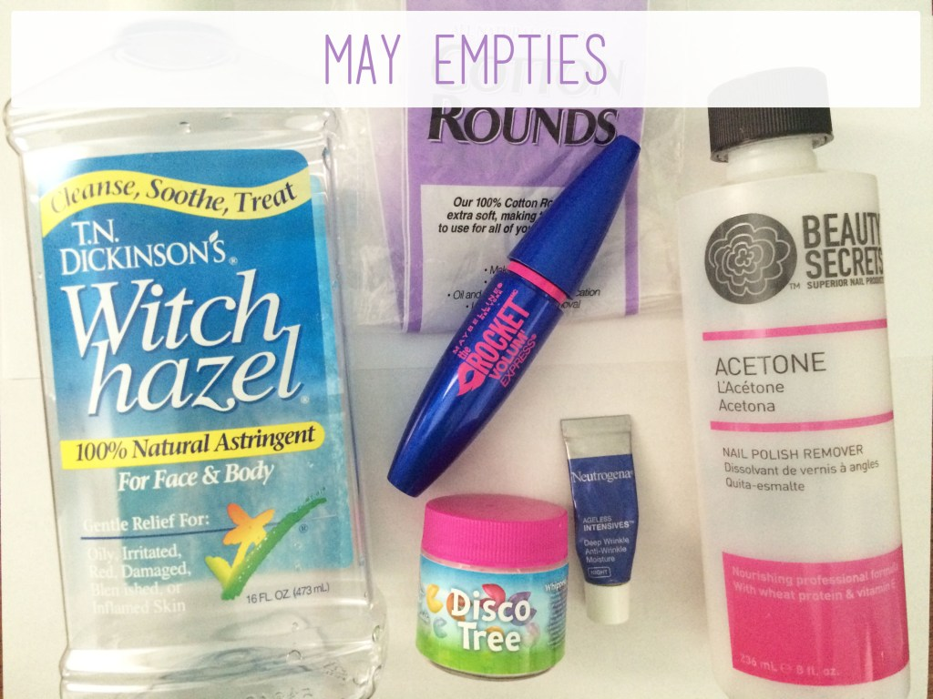 May Empties | The Rebel Planner