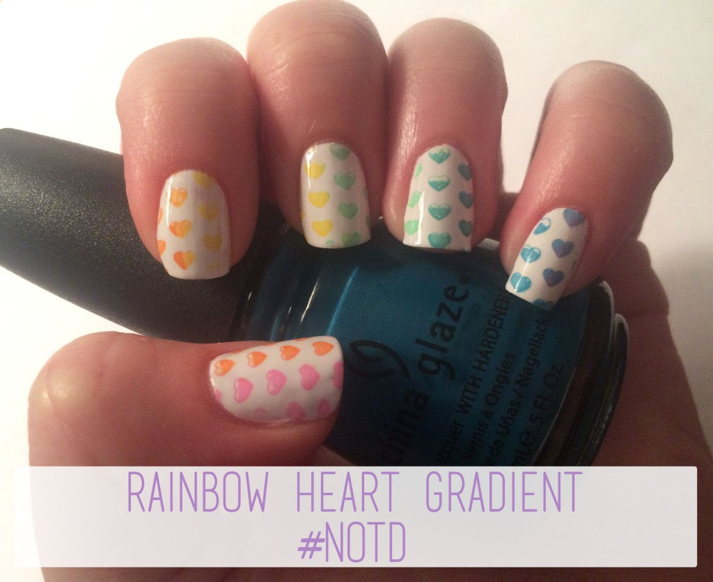 Rainbow Heart Gradient #NOTD | The Rebel Planner