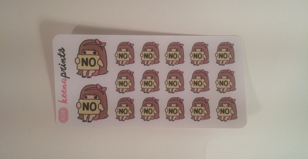 """No"" stickers 