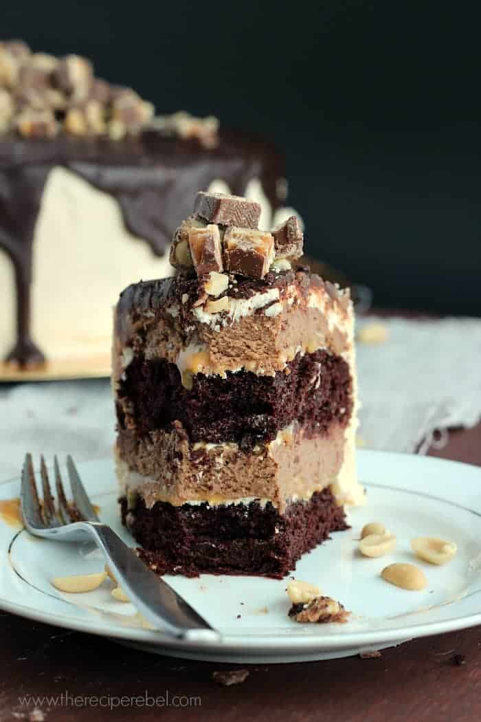 Snickers Cheesecake Cake And A Blog Birthday The Recipe