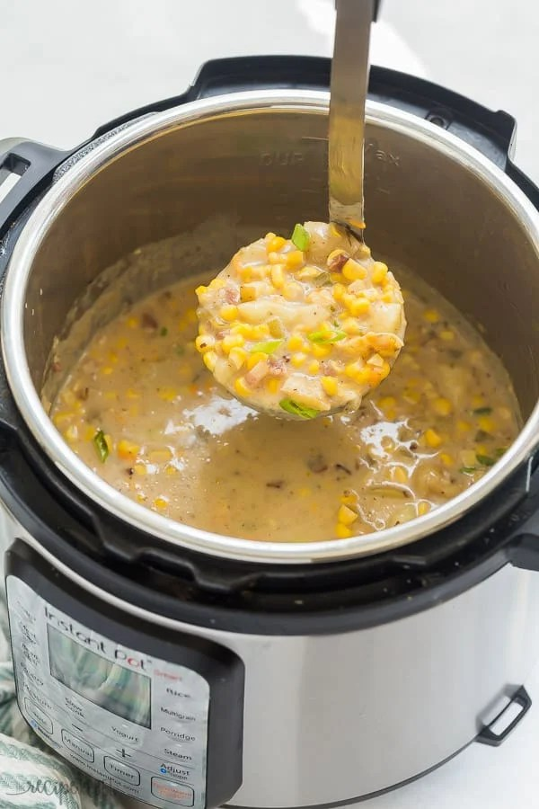 Instant Pot Potato Corn Chowder Video The Recipe Rebel