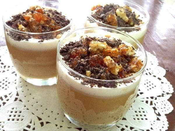Easy Toffee Custard With Walnut Praline