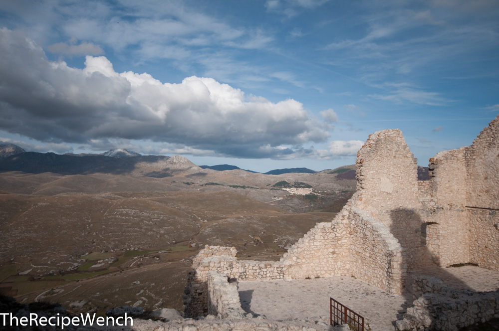 Rocca Calascio fortress moody clouds