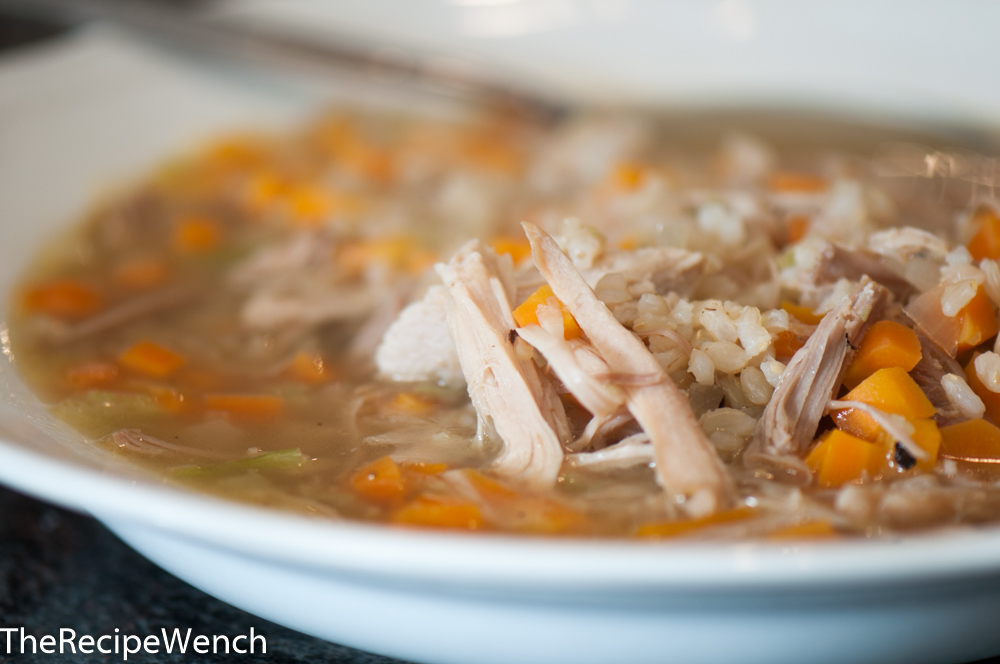 Chicken Soup With Brown Rice