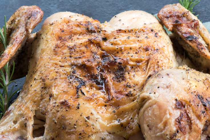 Whole Grilled Butterflied Chicken