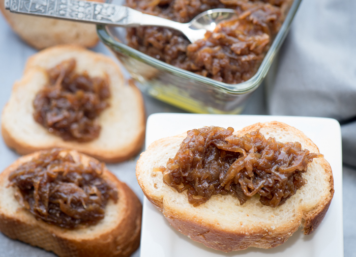 Caramelized Onion Marmalade is a delicious and easy to make appetizer. Spread on toast or even add to French Dip Sandwiches! | The Recipe Wench