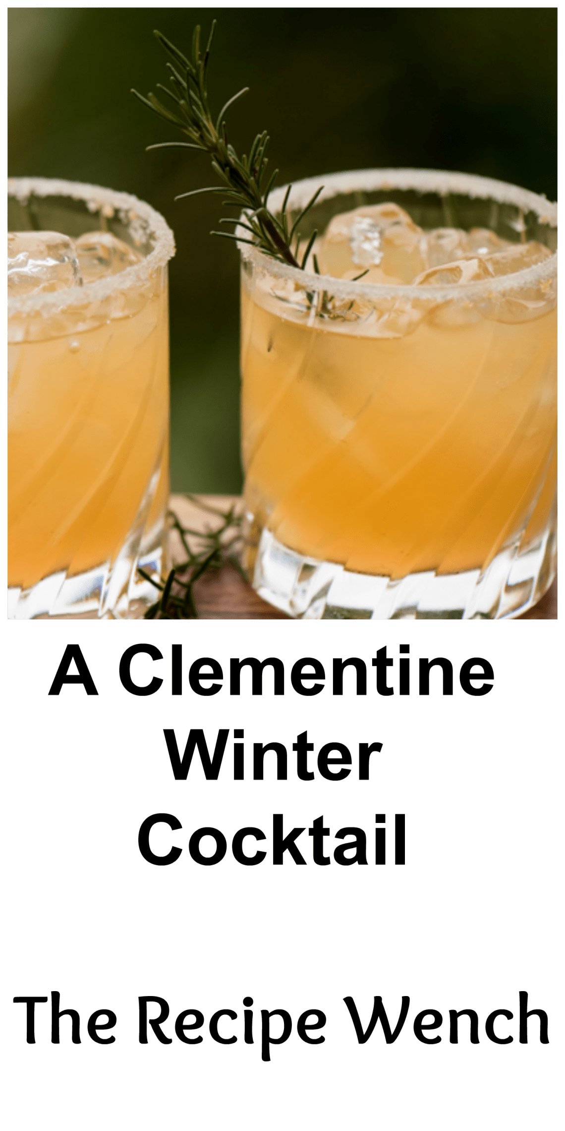 Clementines, lemon, rosemary and vodka. A refreshingly delicious cocktail to enjoy this winter! | The Recipe Wench