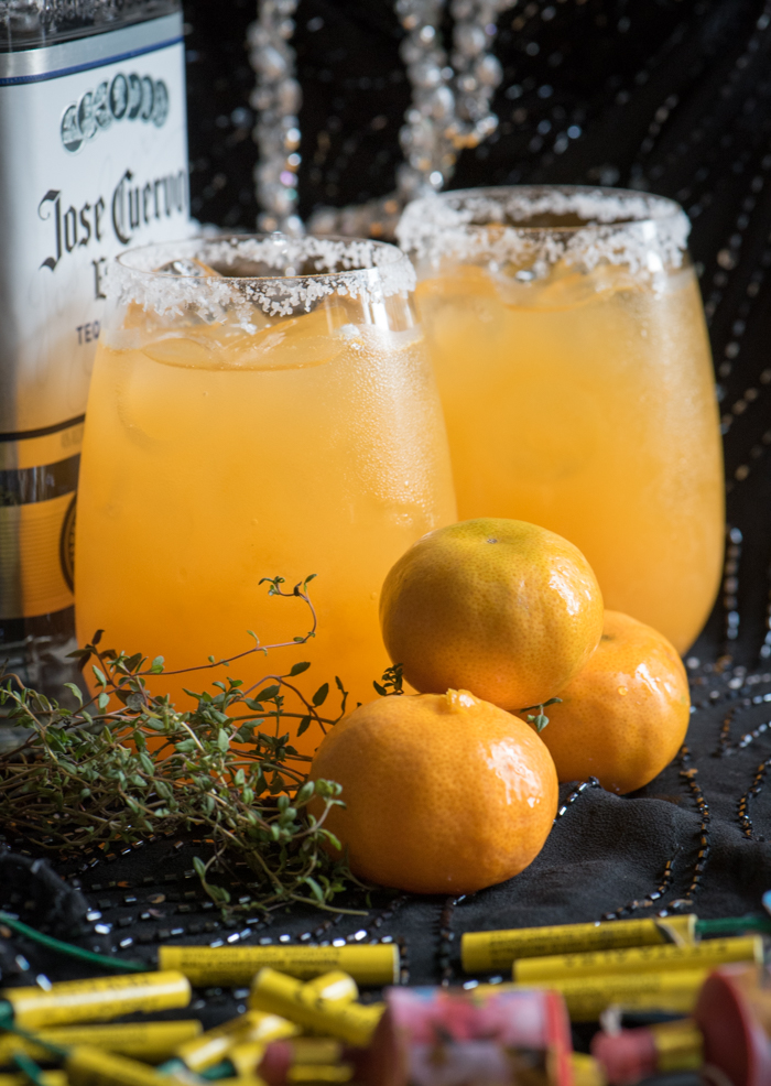 Clementine and Thyme are a genius combo! Just add tequila and you're golden! | The Recipe Wench