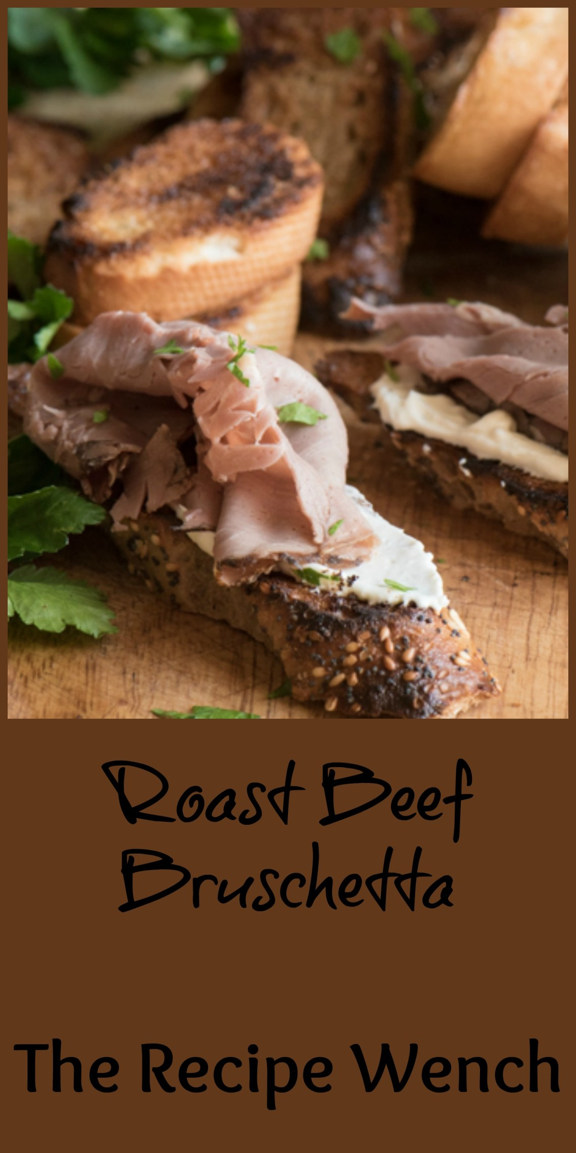 Roast Beef Bruschetta - rub a little garlic on toast, maybe add some horseradish, cream cheese and BOOM! | The Recipe Wench