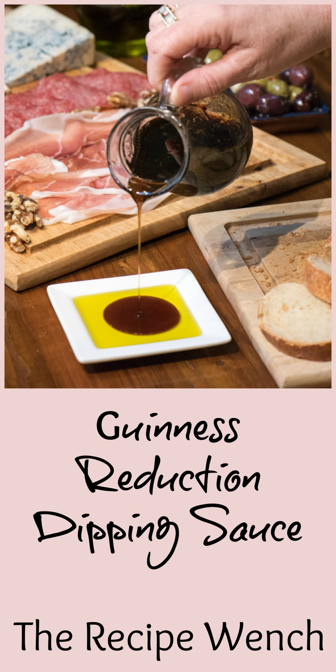 Life's simple pleasures - olive oil drizzled with an easy Guinness reduction. The perfect addition to a cheeseboard | The Recipe Wench