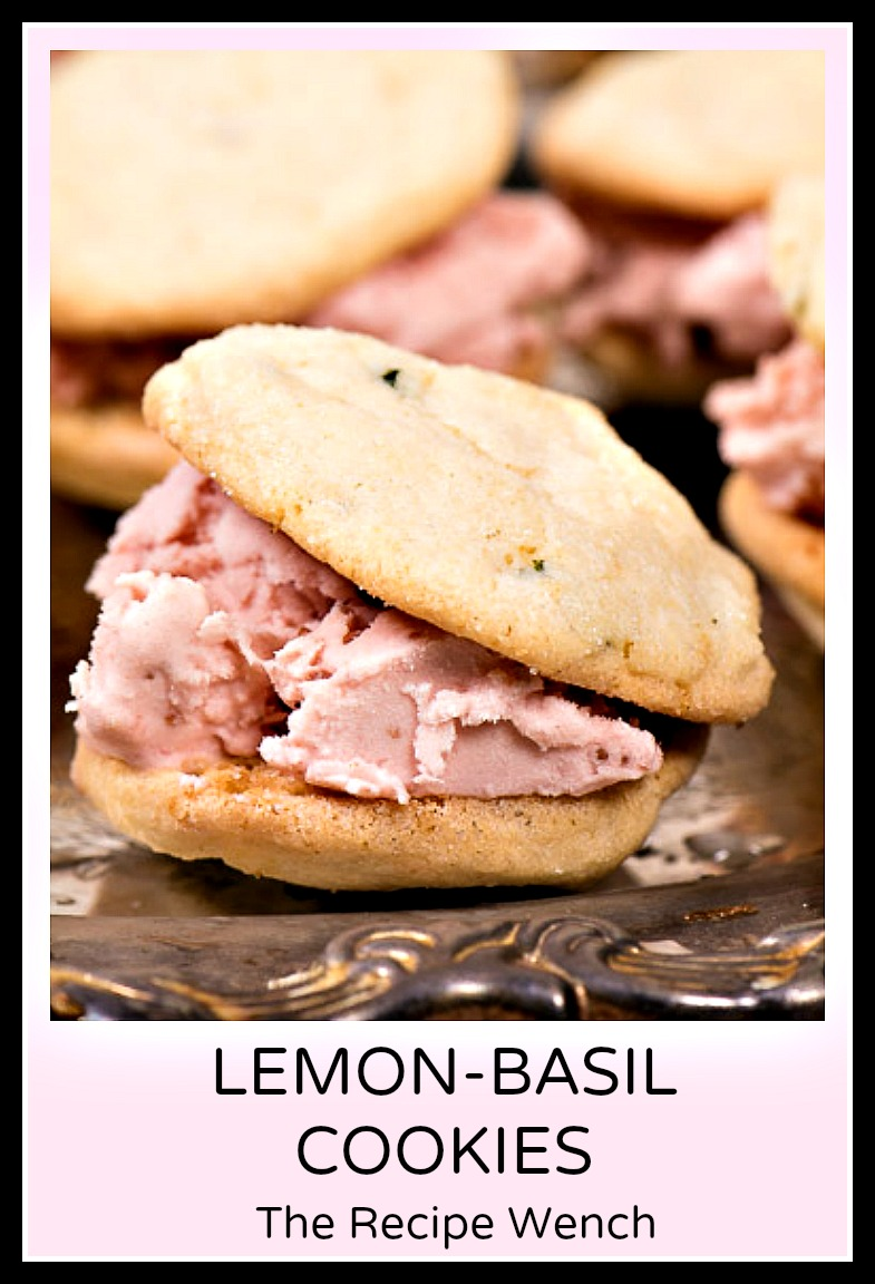 Lemon basil cookies with fresh lemons. Try these with strawberry ice cream! | The Recipe Wench