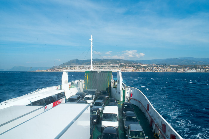 Ferry ride to Sicily