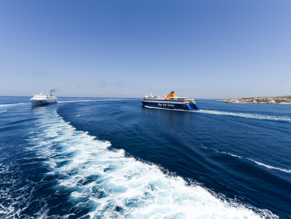 Greece and Santorini - ferry ride on Blue Star Ferries