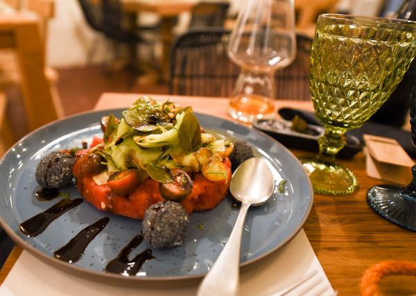 Greece and Santorini - watermelon salad