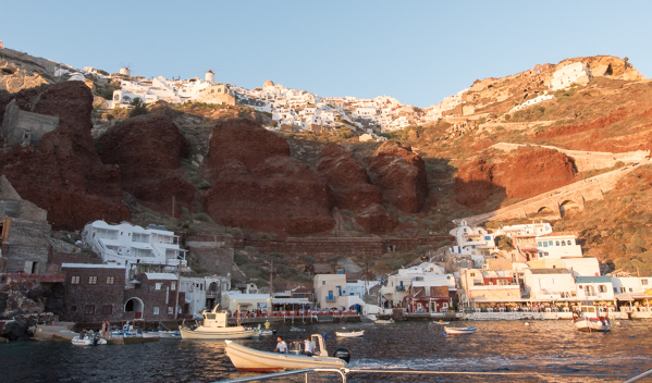 Greece and Santorini - port town of Ammoudi