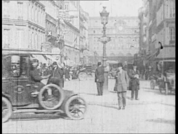 A street in Paris in the 1910's